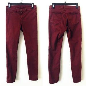 J BRAND Skinny Leg Jeans in Merlot